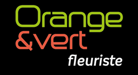 orange et vert fleuriste